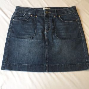 White House Black Market denim skirt, size 8